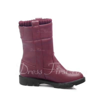 Suni deri Alçak Topuk Ayak bileği Boots ayakkabı (088057339)
