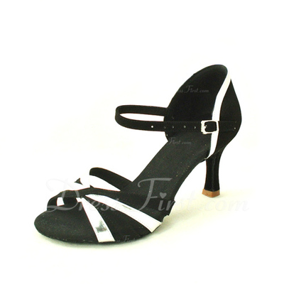Women's Satin Leatherette Sandals Latin Dance Shoes (053016451)