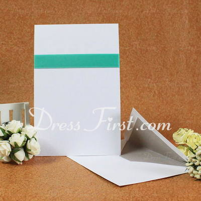Classic Style Flat Card Invitation Cards With Ribbons (Set of 50) (114030733)