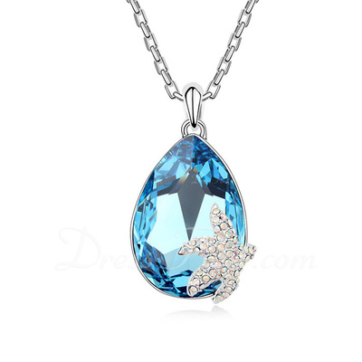 Attractive Alloy/Platinum Plated With Crystal Ladies' Necklaces (011054886)
