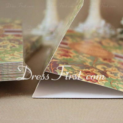 Classic Style Tri-Fold Invitation Cards With Ribbons (Set of 60) (114030734)