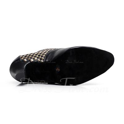 Kadın Gerçek Deri Topuk Modern Ile Bağcıklı Dans Ayakkabıları (053057395)
