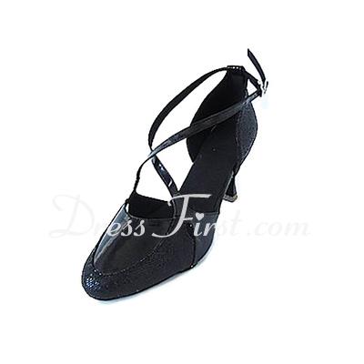 Women's Leatherette Sparkling Glitter Heels Pumps Modern Dance Shoes (053018626)