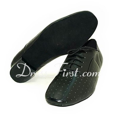 Men's Real Leather Latin Modern Ballroom Dance Shoes (053013477)