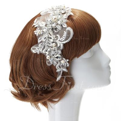 Moda Faux Pearl/Lace Headbands (042057217)