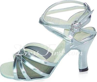 Women's Patent Leather Heels Sandals Latin Salsa Dance Shoes (053021628)