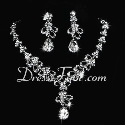 Elegant Alloy/Rhinestones Ladies' Jewelry Sets (011027001)