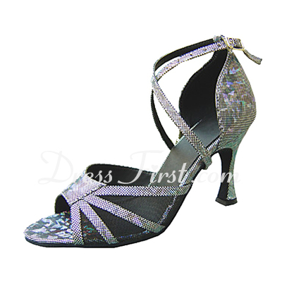 Women's Leatherette Heels Sandals Latin With Ankle Strap Dance Shoes (053013157)