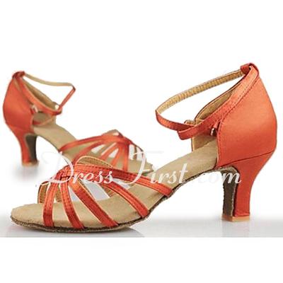 Dla kobiet Satin Sandały Latynoska Sala Balowa Buty do Tańca (053013191)