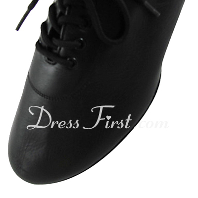 Men's Real Leather Flats Latin Modern Dance Shoes (053013149)