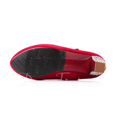 ante Tacón ancho Botas al tobillo zapatos (088054448)