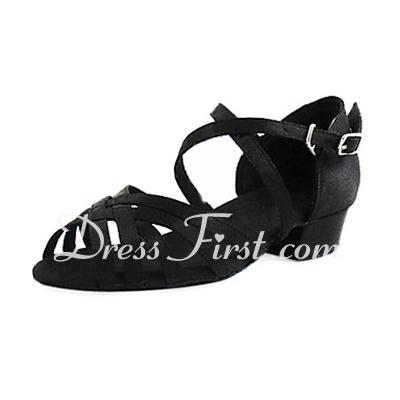 Femmes Enfants Satiné Sandales Chaussures plates Latin avec Boucle Chaussures de danse (053013402)