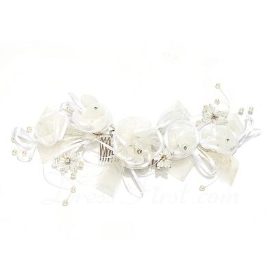 Fantezi Faux Pearl/Suni İpek Çiçekler (042057563)