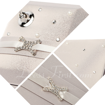 Perfect Rhinestones/Bow Guestbook & Pen Set (101018186)