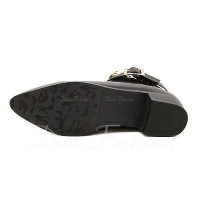Suni deri Düz Topuk Ayak bileği Boots Ile Zincir ayakkabı (088056645)