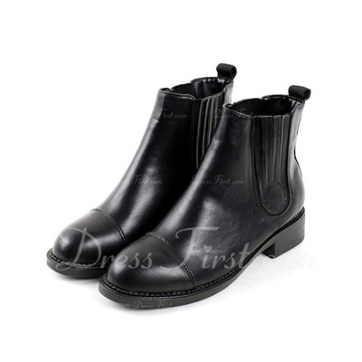 Suni deri Alçak Topuk Ayak bileği Boots ayakkabı (088056377)