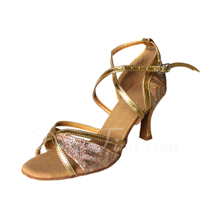 Women's Leatherette Heels Sandals Latin Ballroom Dance Shoes (053009729)