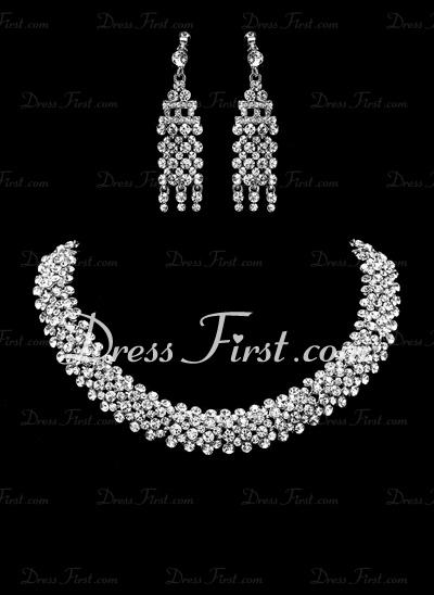 Exquisite Alloy/Rhinestones Jewelry Sets (011019306)