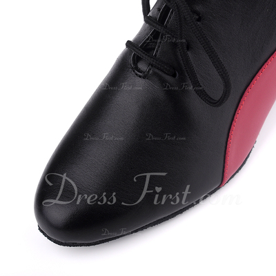 Women's Real Leather Heels Modern With Lace-up Dance Shoes (053057390)