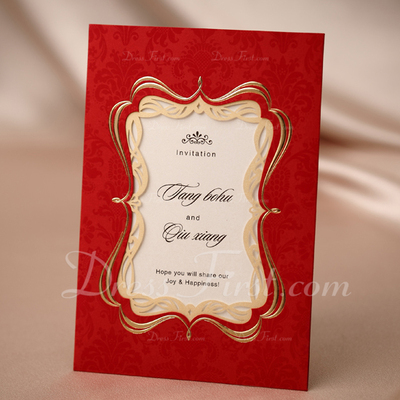 Personalized Classic Style Wrap & Pocket Invitation Cards (Set of 50) (114031405)