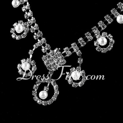 Unique Alloy/Pearl With Crystal Ladies' Jewelry Sets (011027189)