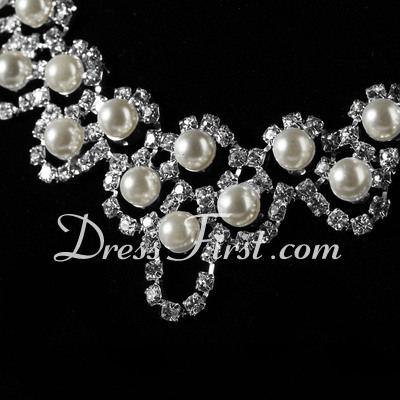Elegant Alloy/Pearl With Crystal Ladies' Jewelry Sets (011027192)