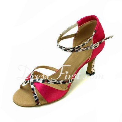 Women's Satin Sandals Latin Ballroom Dance Shoes (053012987)