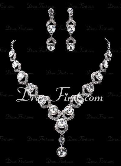 Elegant Alloy/Rhinestones Women's Jewelry Sets (011019360)