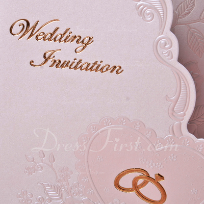 Floral Style Tri-Fold Invitation Cards (Set of 50) (114033304)