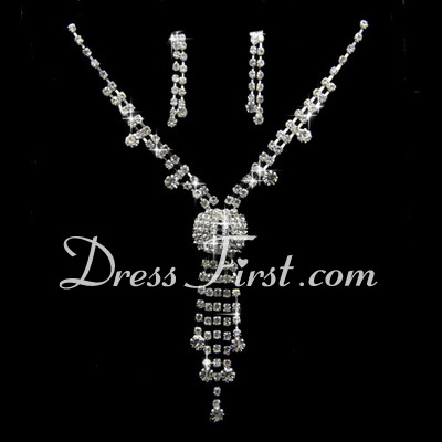 Beautiful Alloy/Rhinestones Women's Jewelry Sets (011027774)