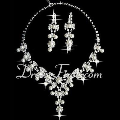 Elegant Alloy/Pearl With Rhinestone Ladies' Jewelry Sets (011027198)