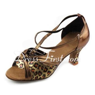 Kadın Suni deri Topuk Sandalet Latin Ile Ilmek Dans Ayakkabıları (053013011)