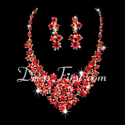 Elegant Alloy/Rhinestones Women's Jewelry Sets (011028428)
