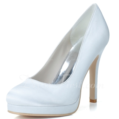Kadın Satin İnce Topuk Kapalı Toe Platform Pompalar (047057100)