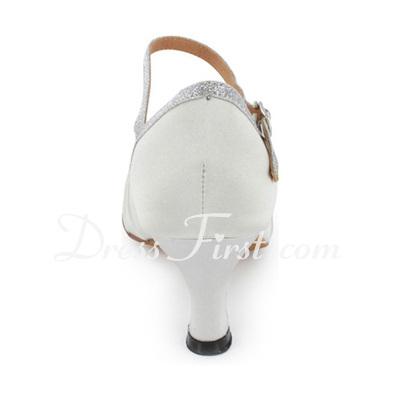Women's Leatherette Sparkling Glitter Heels Sandals Ballroom Swing Dance Shoes (053018525)