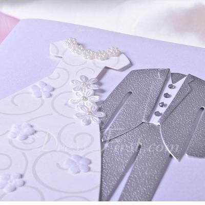 Bride & Groom Style Side Fold Invitation Cards (Set of 50) (114033294)
