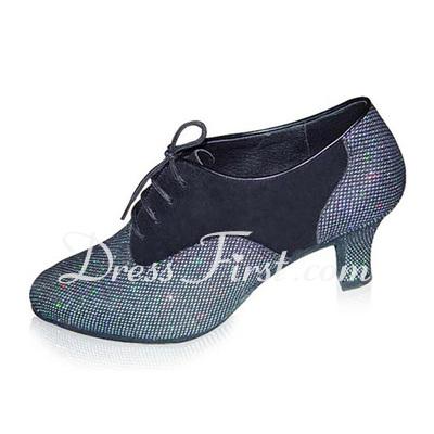 Women's Sparkling Glitter Heels Pumps Modern Dance Shoes (053018540)
