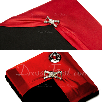 Red and Black Rhinestones Guestbook & Pen Set (101036829)