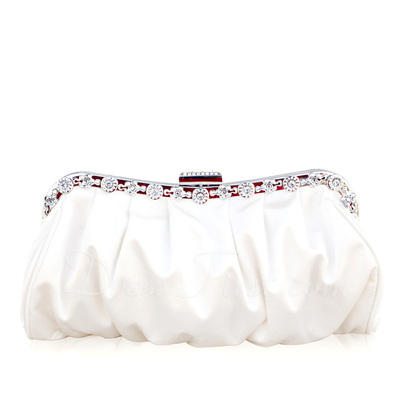 Charming Silk With Rhinestone Clutches (012005559)