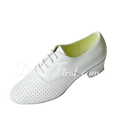 Men's Real Leather Heels Latin Ballroom Swing Practice Character Shoes Dance Shoes (053018583)