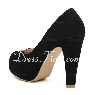 Zapatos De Tacon Ancho Y Plataforma