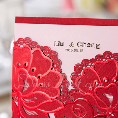 Personalized Flower Design High quality paper Invitation Cards (Set of 50) (118055133)