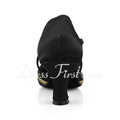 Kadın Saten Suni deri Topuk Pompalar Modern Ile Ayakkabı Askısı Dans Ayakkabıları (053013201)