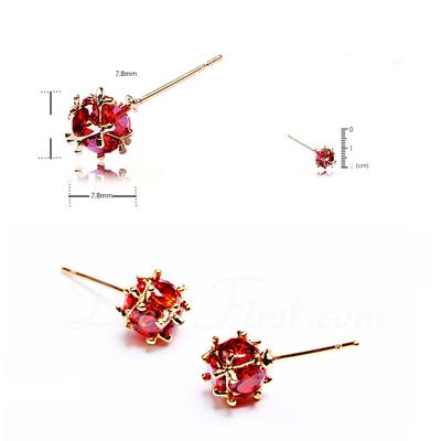 Beautiful Zircon/Platinum Plated Ladies' Earrings (011057467)