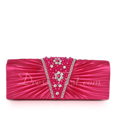 Charming Satin Clutches (012011039)