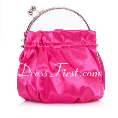 Elegant Satin With Rhinestone Wristlets/Bridal Purse (012013558)