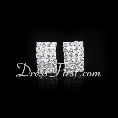 Shining Alloy/Rhinestones Ladies' Earrings (011026728)