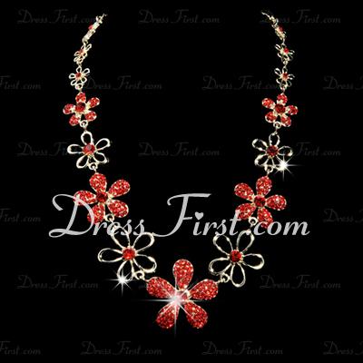 Gorgeous Alloy/Rhinestones Women's Jewelry Sets (011028388)