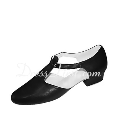 Women's Real Leather Heels Flats Ballroom Practice Dance Shoes (053018591)