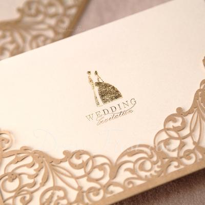 Bride & Groom Style Wrap & Pocket Invitation Cards (Set of 50) (114024220)